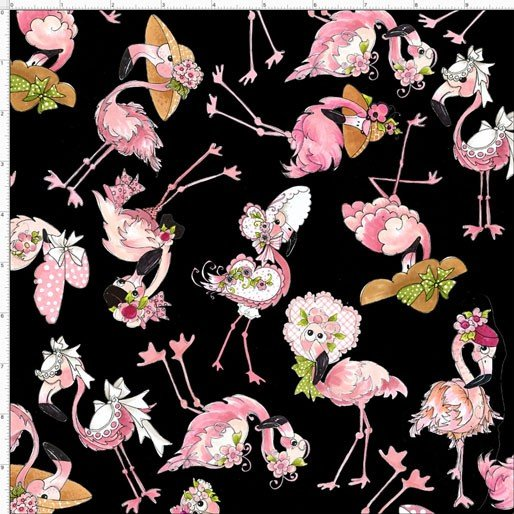 Flamingo Fancy tossed flams black