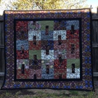 Aboriginal art quilt top