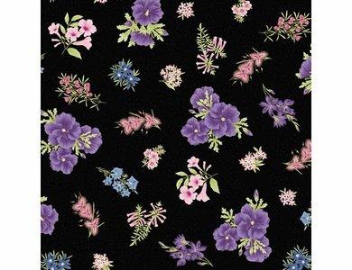 Floral purple black 017 20