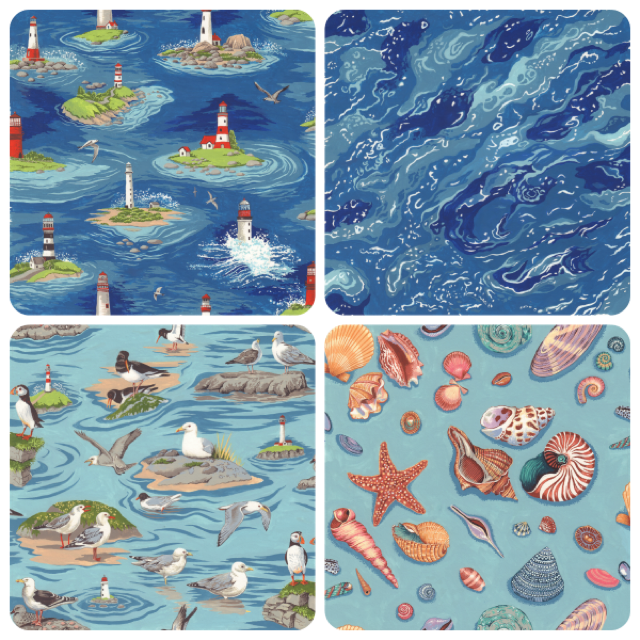 By the Sea four pack fat quarters