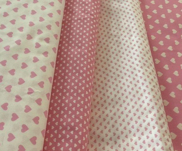 Pink hearts 4 half metres