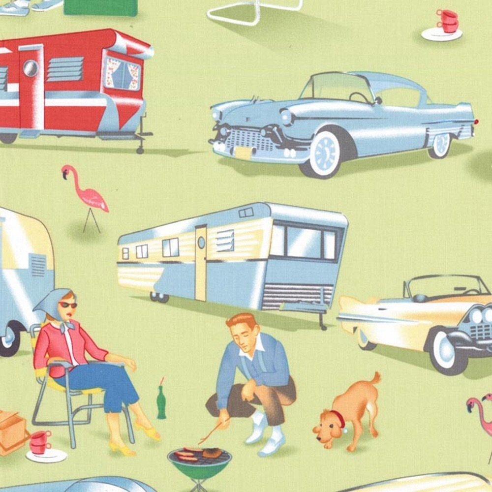 Caravans retro green