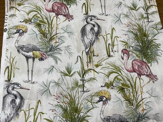 Etang toile  linen Water Birds