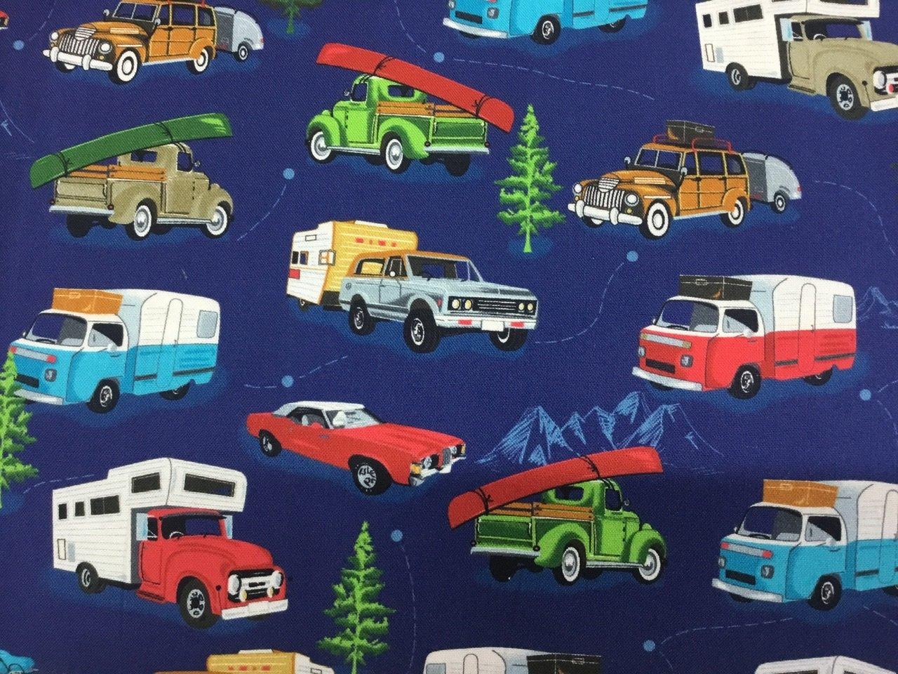 American Road Trip vans blue