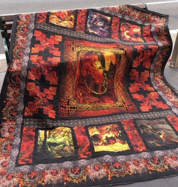 Dragons Quilt top kit
