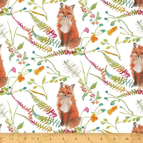 Fox wood foxes on white