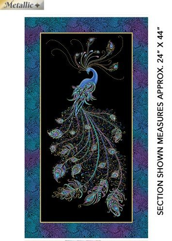 Peacock Flourish queen Peacock panel