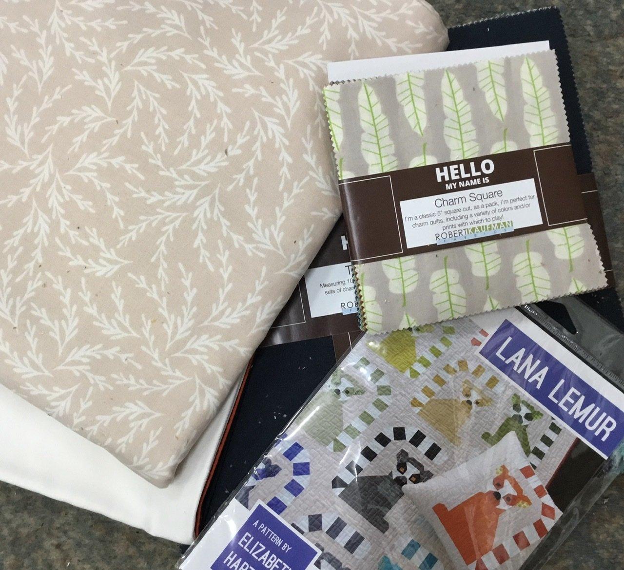Lana Lemur quilt top kit