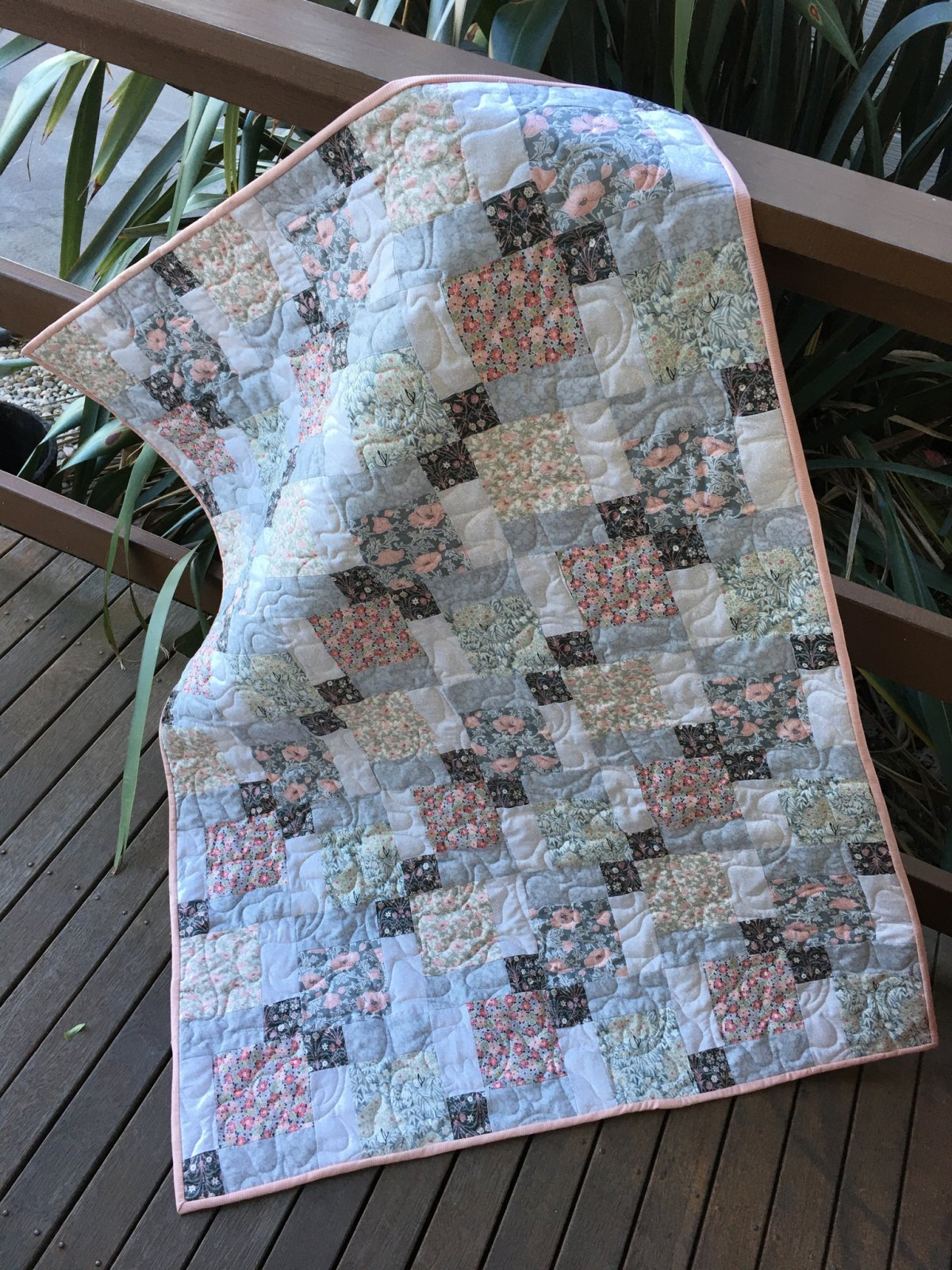 Liberty floral baby quilt