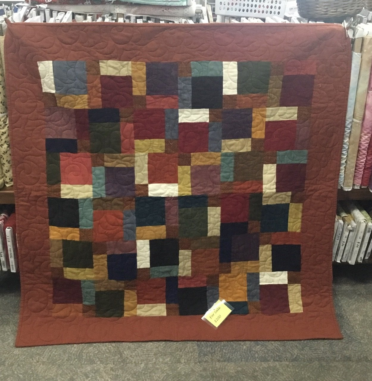 Tan and friends flannel quilt