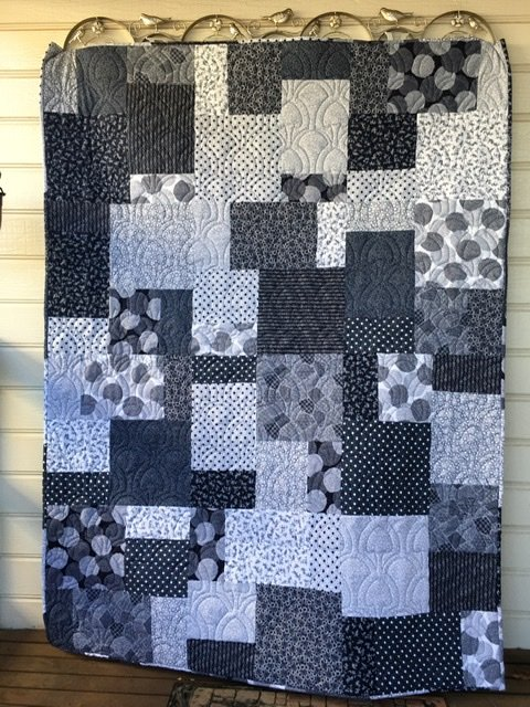 Blue Flair quilt kit