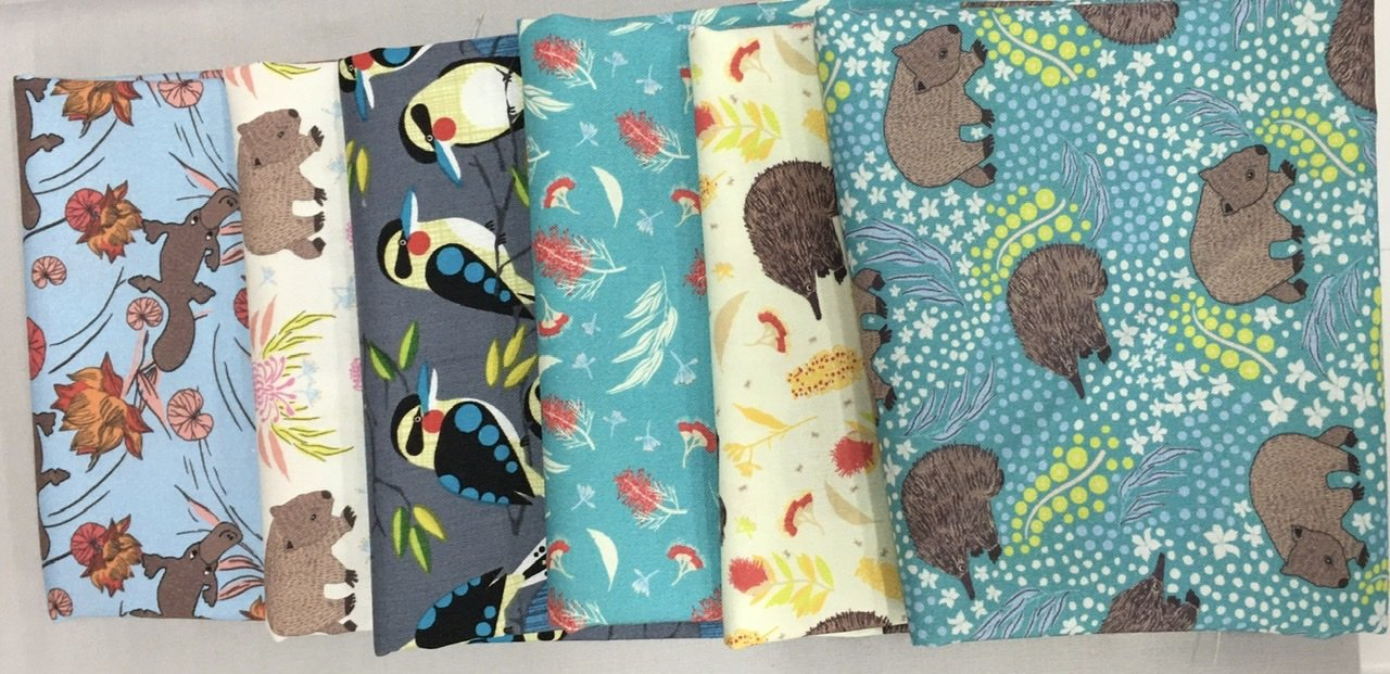 Baby Cot Quilt Australiana fabric kit