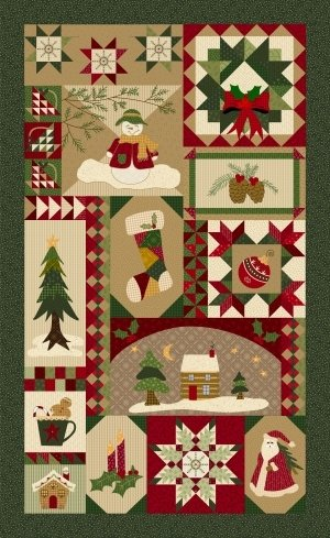 PATCHES OF JOY Christmas panel