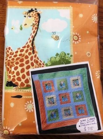 Giraffe quilt top kit