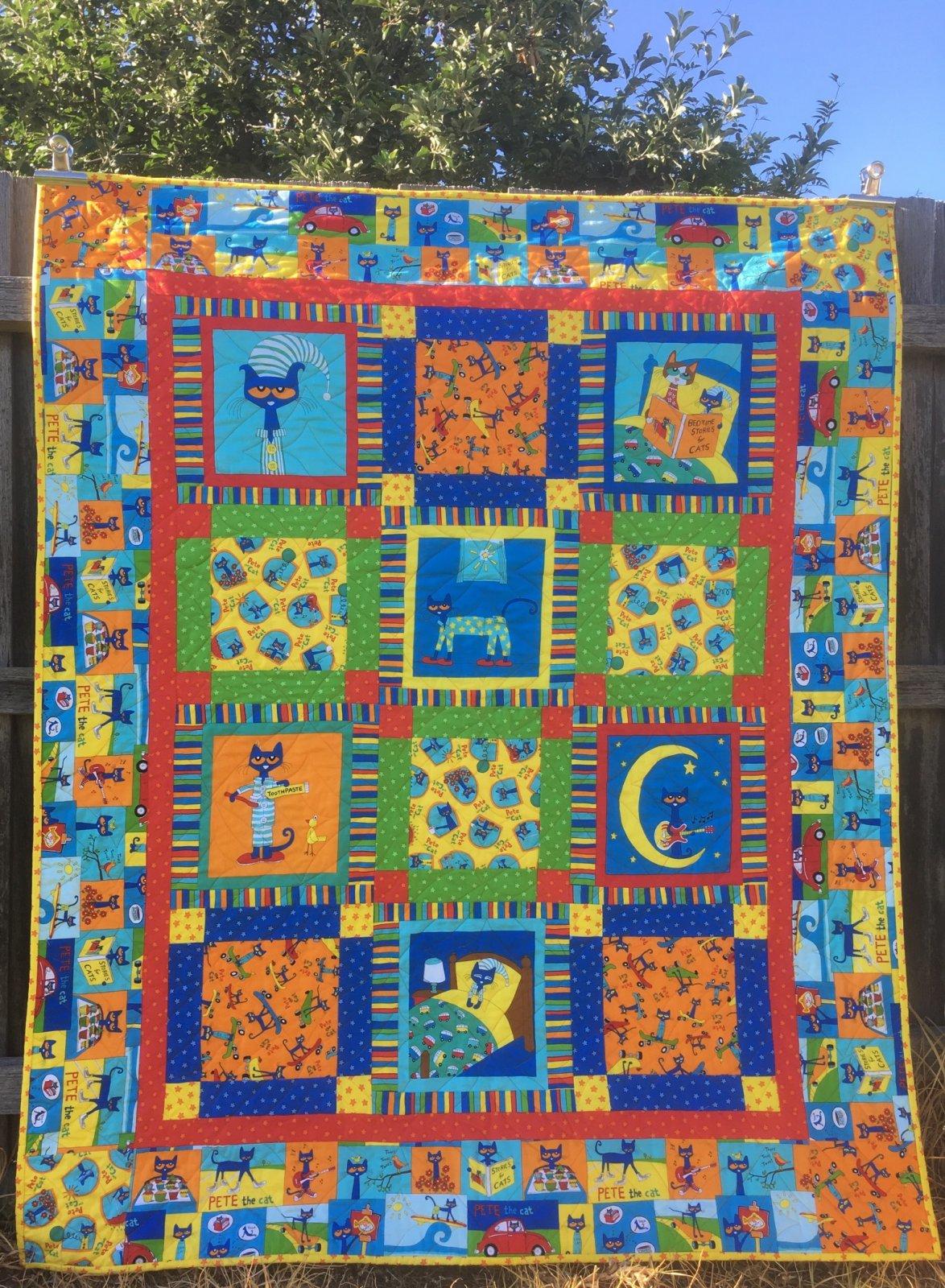 Pete the Cat quilt kit