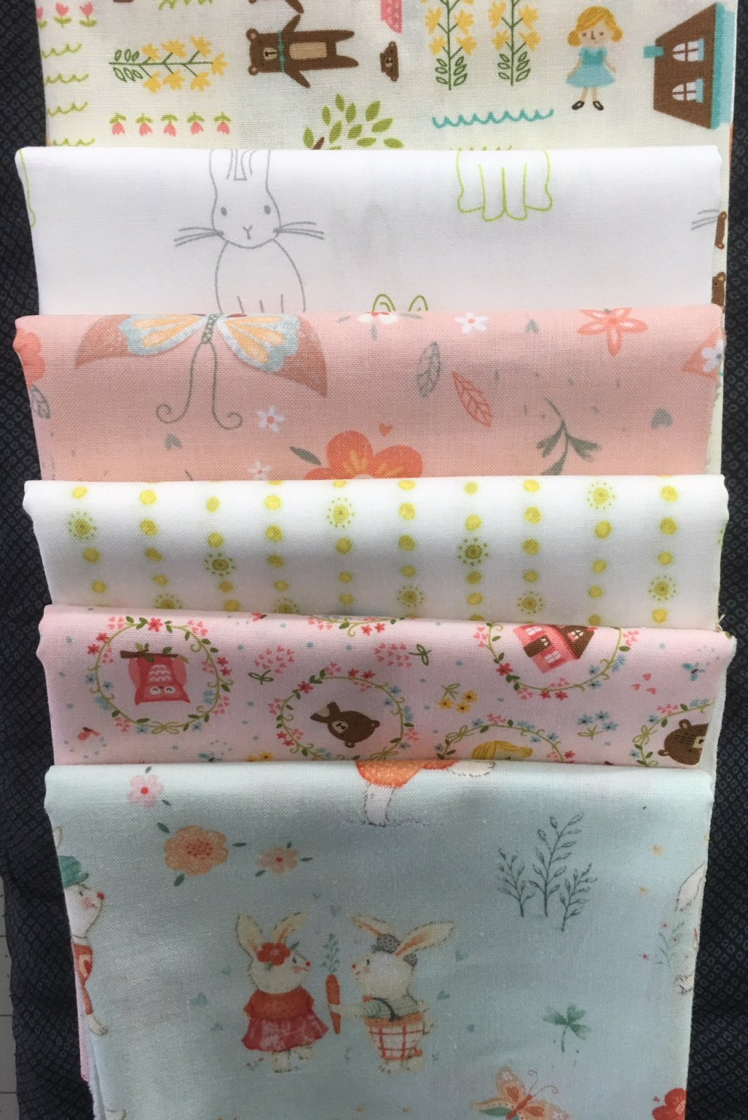 Baby Cot Quilt fabric kit  SOFT AND PRETTY