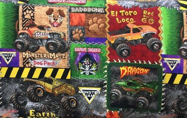 Monster Jam Monster Truck patches