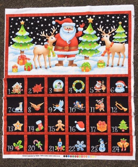 Christmas Advent Calendar Santa in the snow