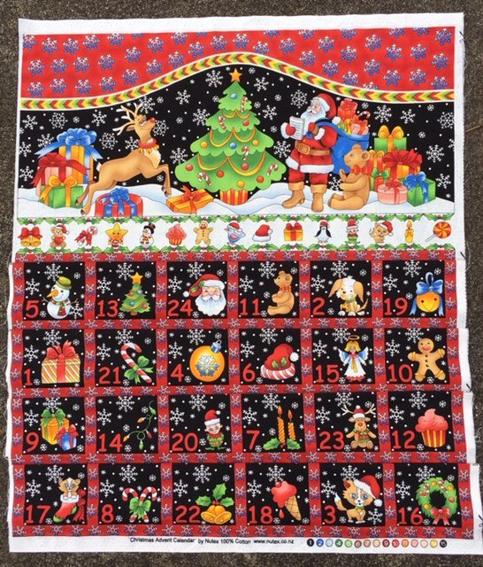 Advent Calendar Santa and Reindeers in the snow