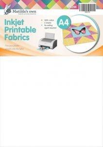 Inkjet printable fabric sheets