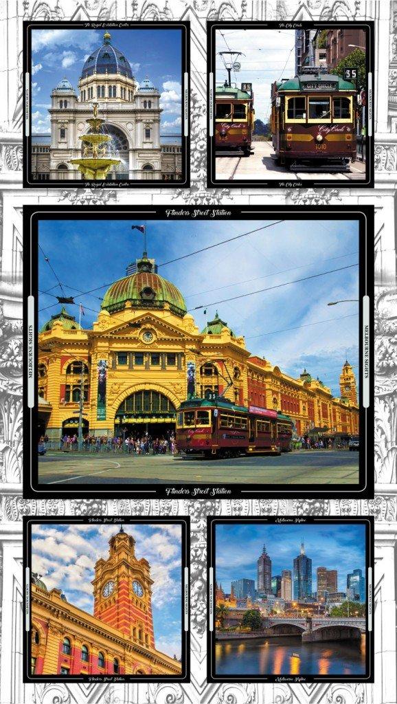 Melbourne Sights panel 8006K