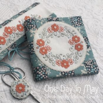 Petite Blooms needlebook and scissor keeper
