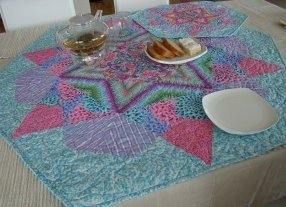 Rose Star table centre and placemat