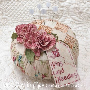 Roses and Ruching pincushion