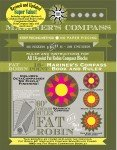 Fat Robin 16 point Mariners Compass book and ruler