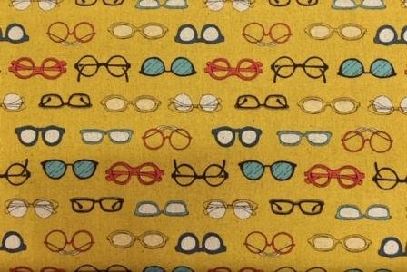 Spectacles on mustard
