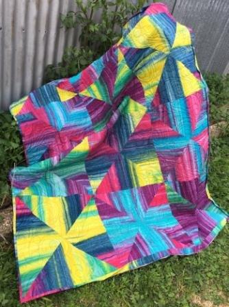 Ripple one fabric quilt kit