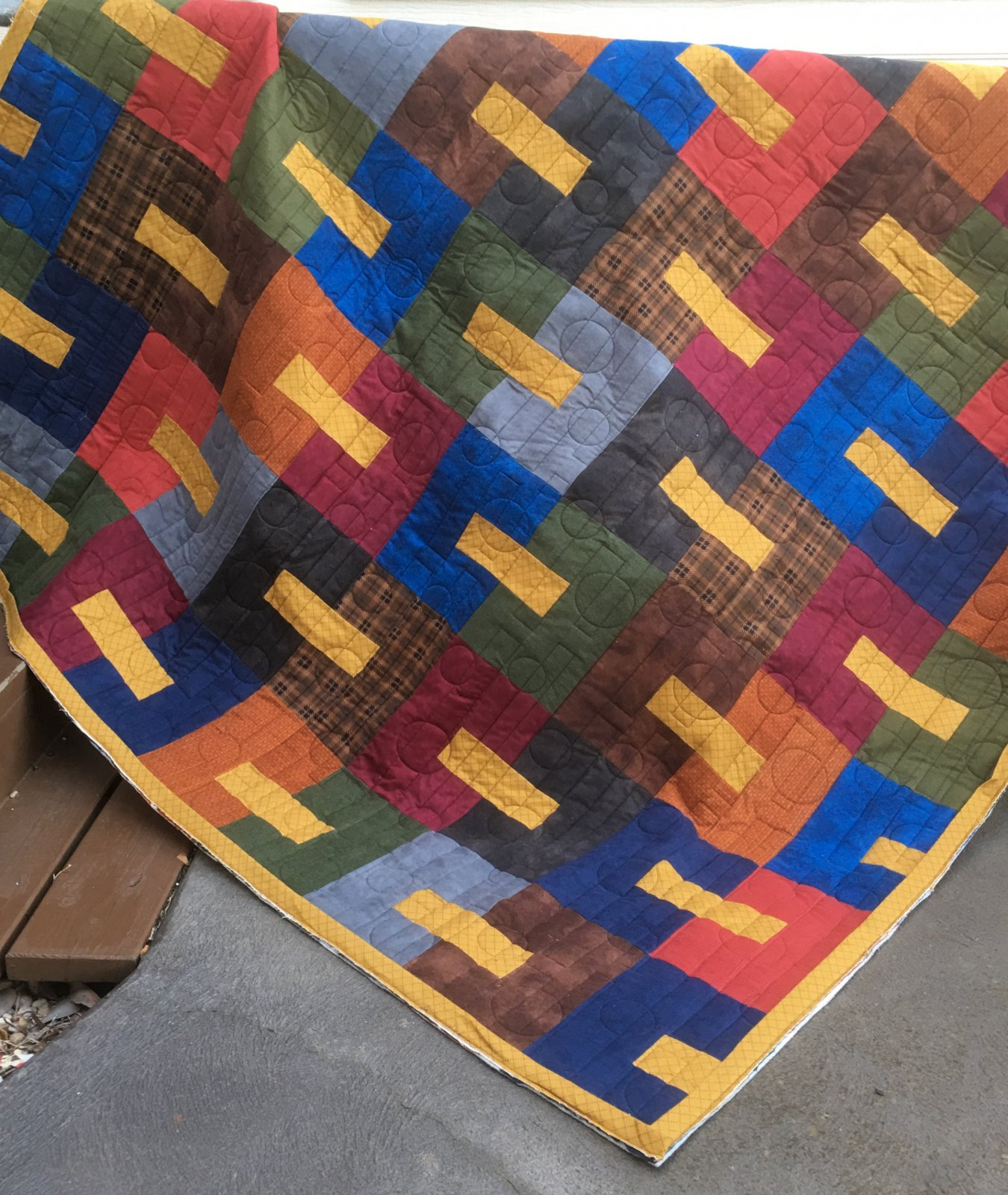 Woven flannel quilt kit