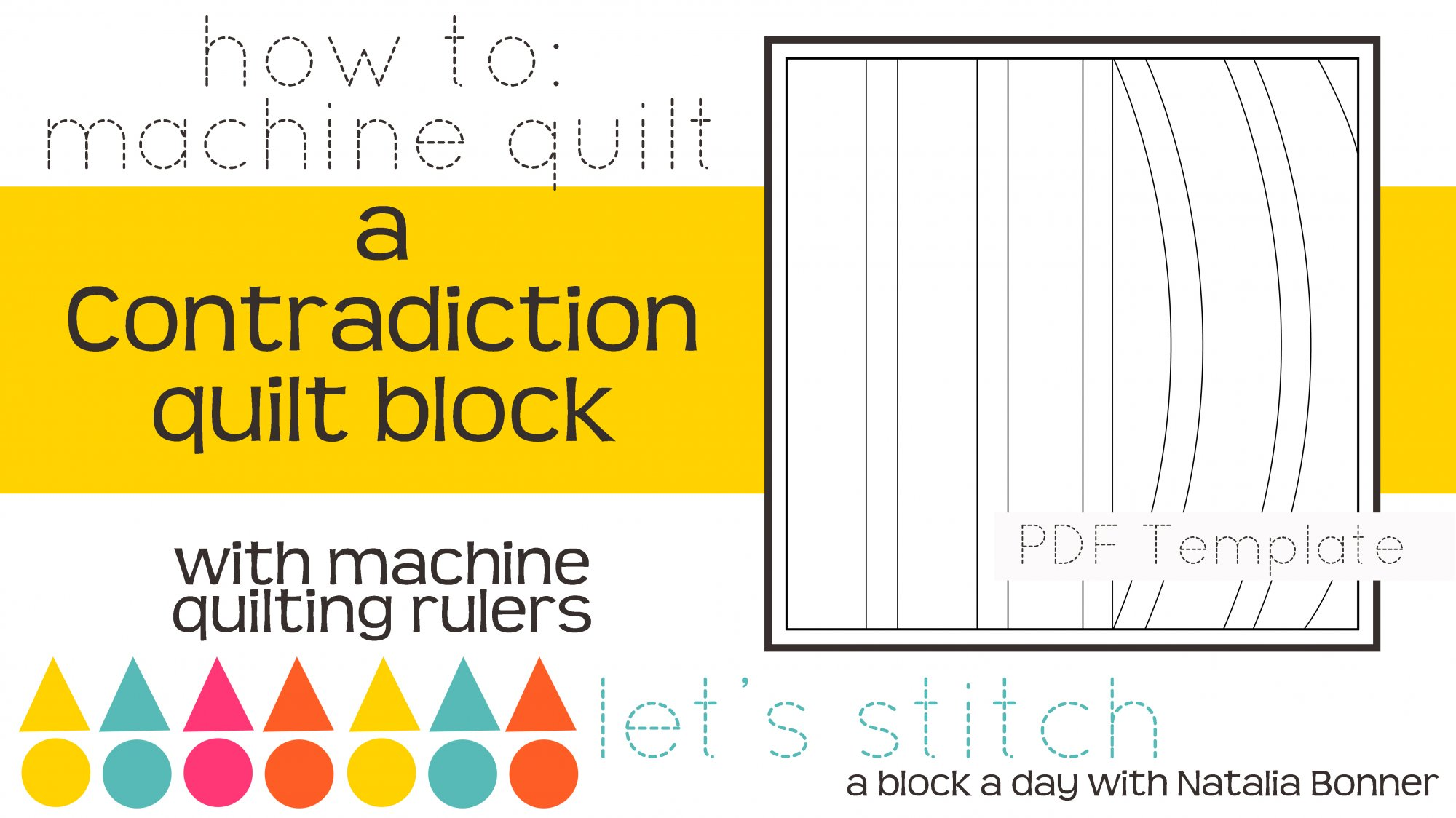 Let's Stitch - A Block a Day With Natalia Bonner - PDF - Contradiction