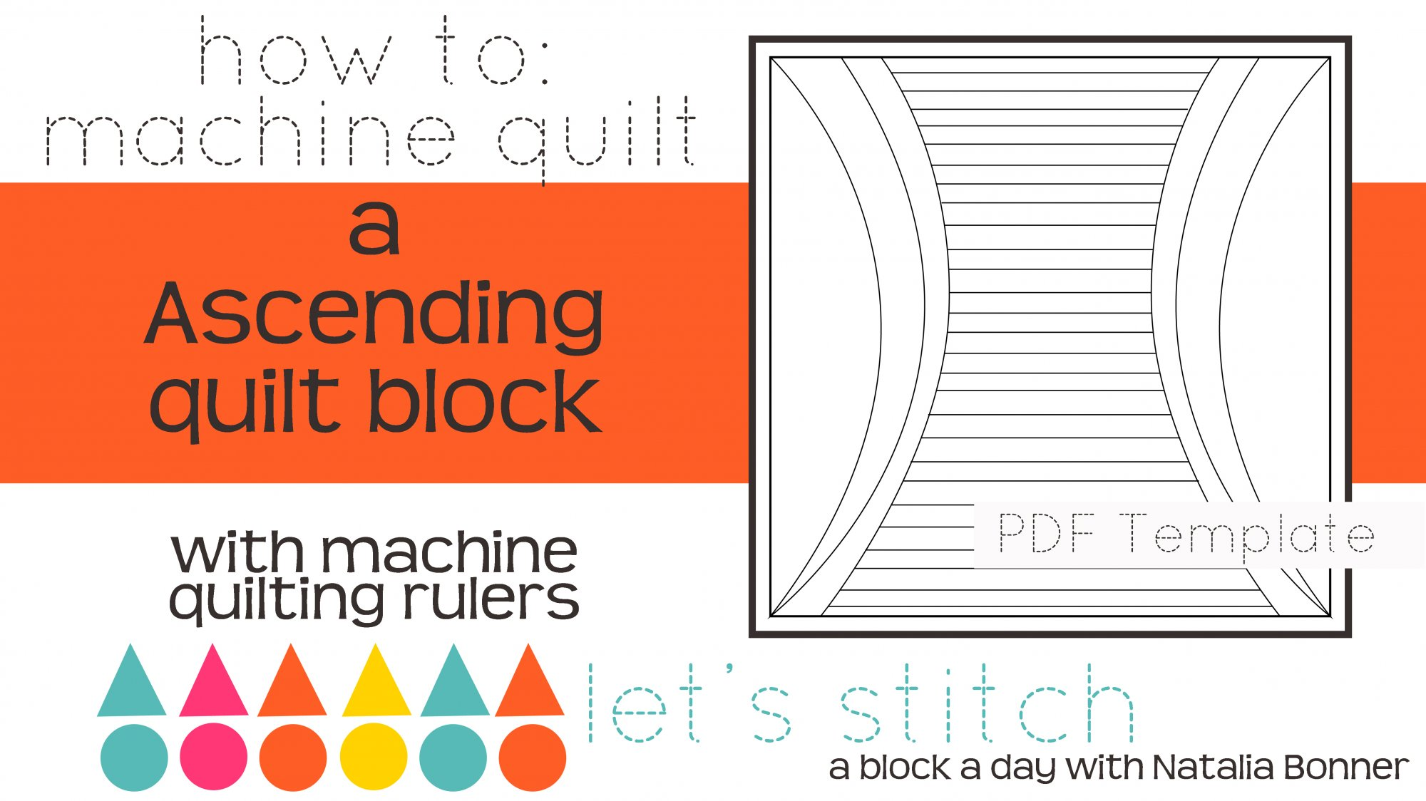 Let's Stitch - A Block a Day With Natalia Bonner - PDF - Ascending