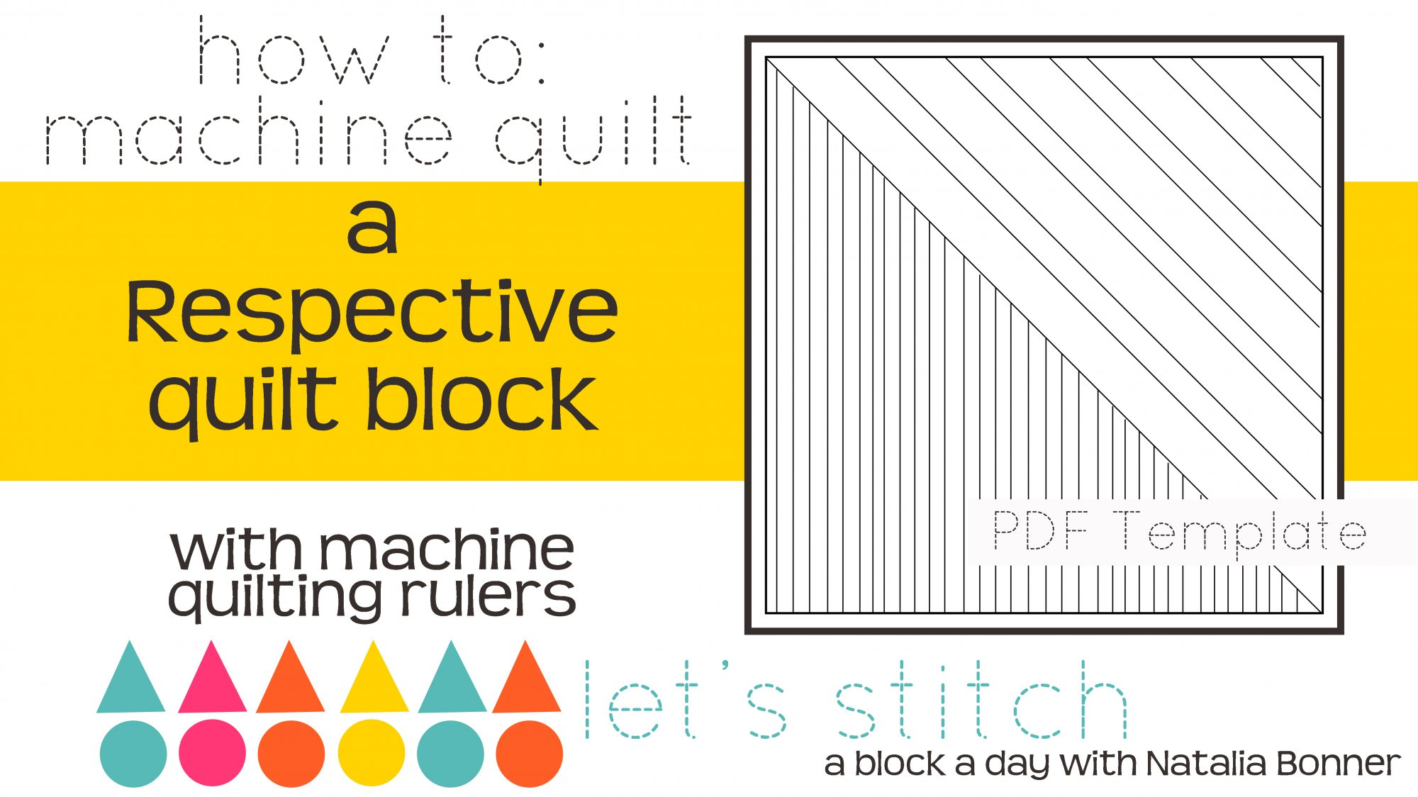 Let's Stitch - A Block a Day With Natalia Bonner - PDF - Respective