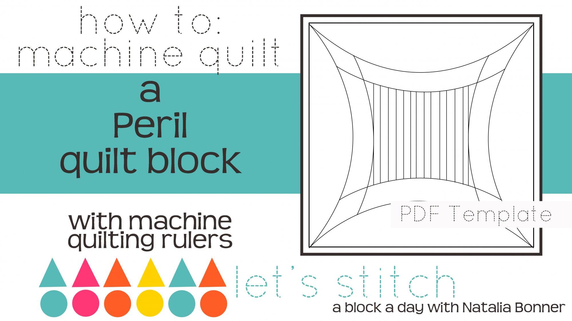 Let's Stitch - A Block a Day With Natalia Bonner - PDF - Peril