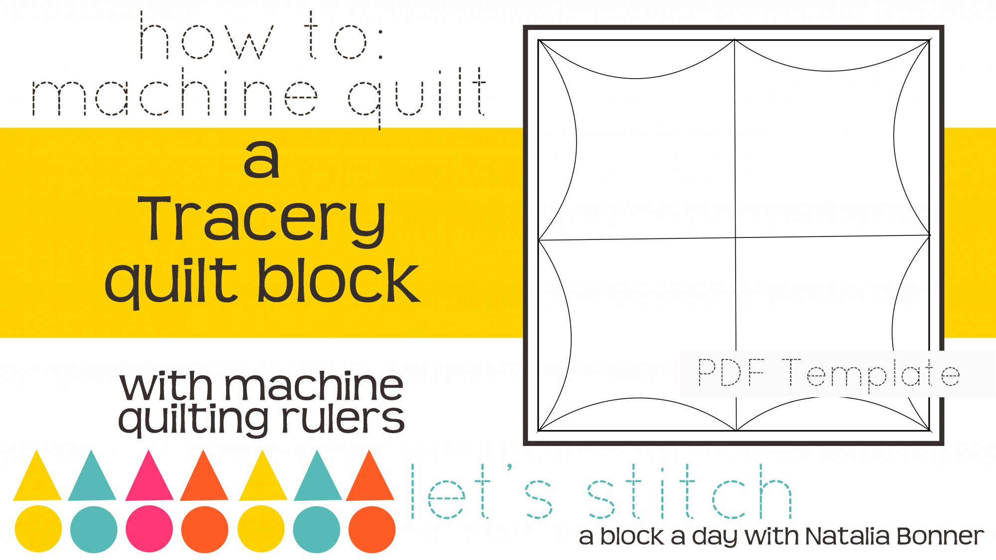 Let's Stitch - A Block a Day With Natalia Bonner - PDF - Tracery