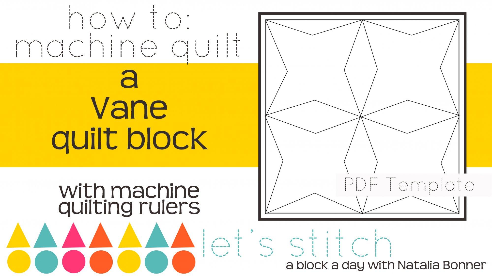 Let's Stitch - A Block a Day With Natalia Bonner - PDF - Vane