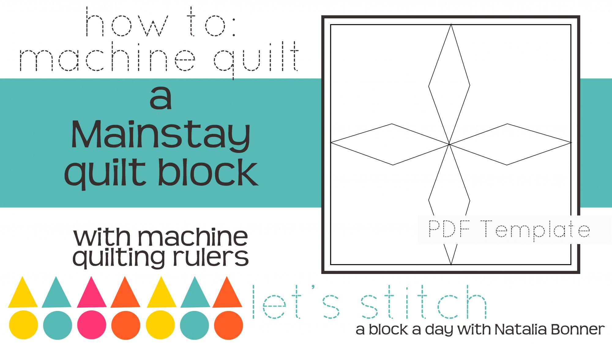 Let's Stitch - A Block a Day With Natalia Bonner - PDF - Mainstay