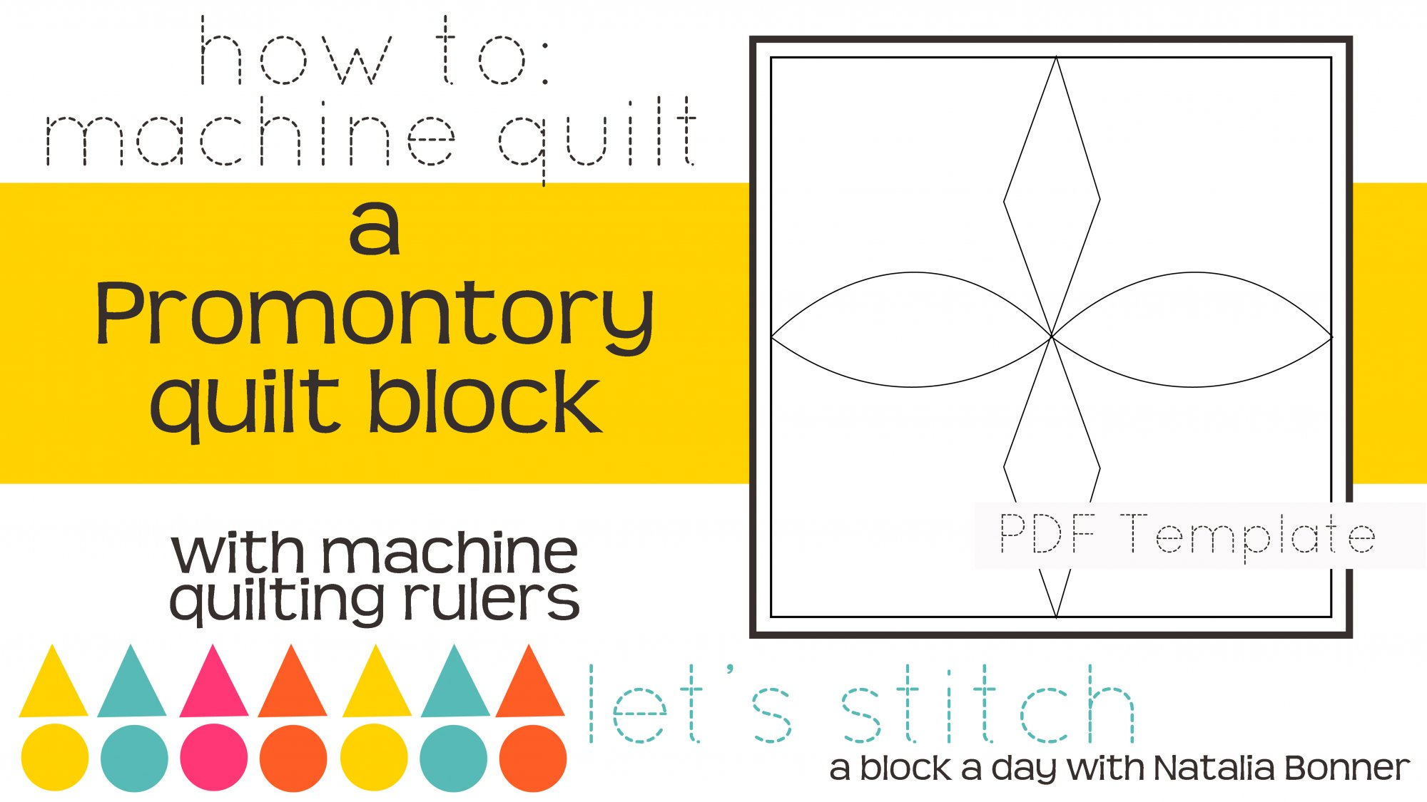 Let's Stitch - A Block a Day With Natalia Bonner - PDF - Promontory
