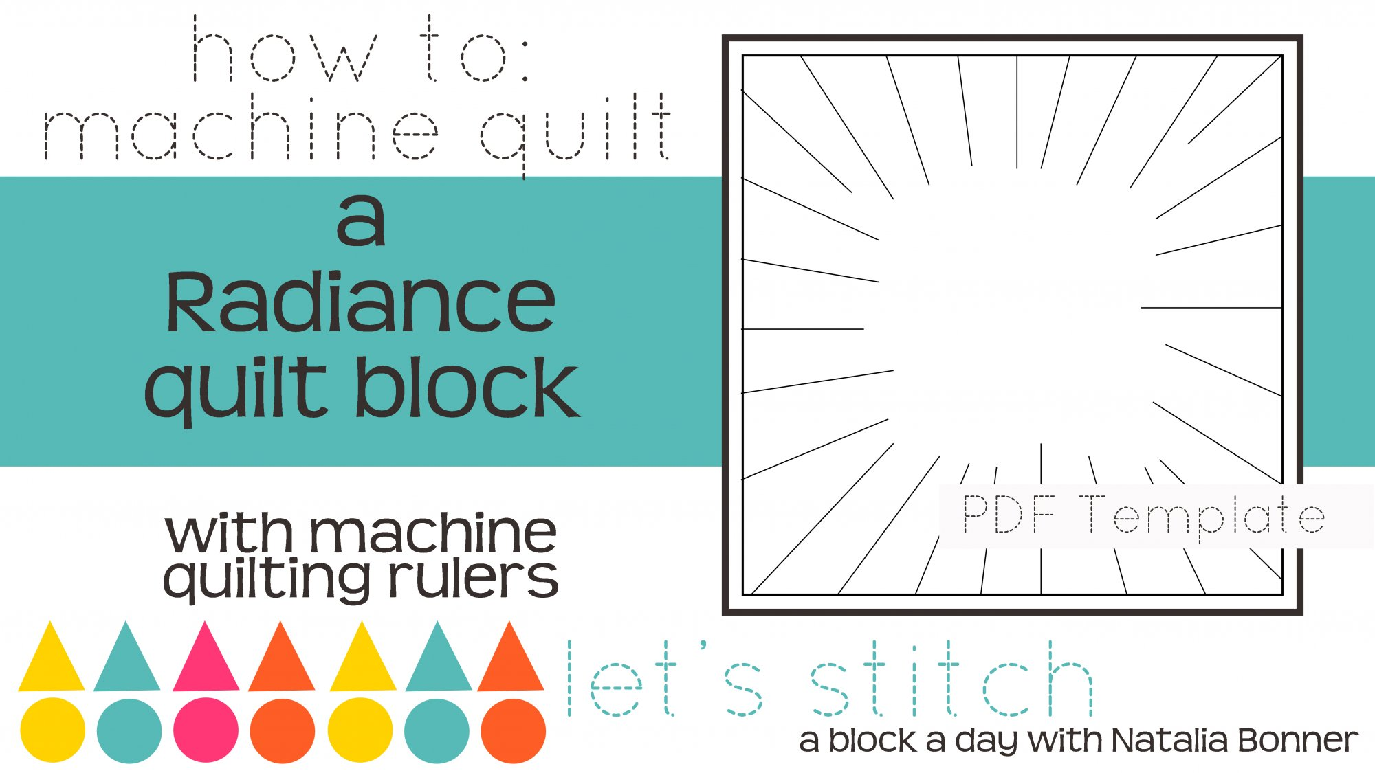 Let's Stitch - A Block a Day With Natalia Bonner - PDF - Radiance