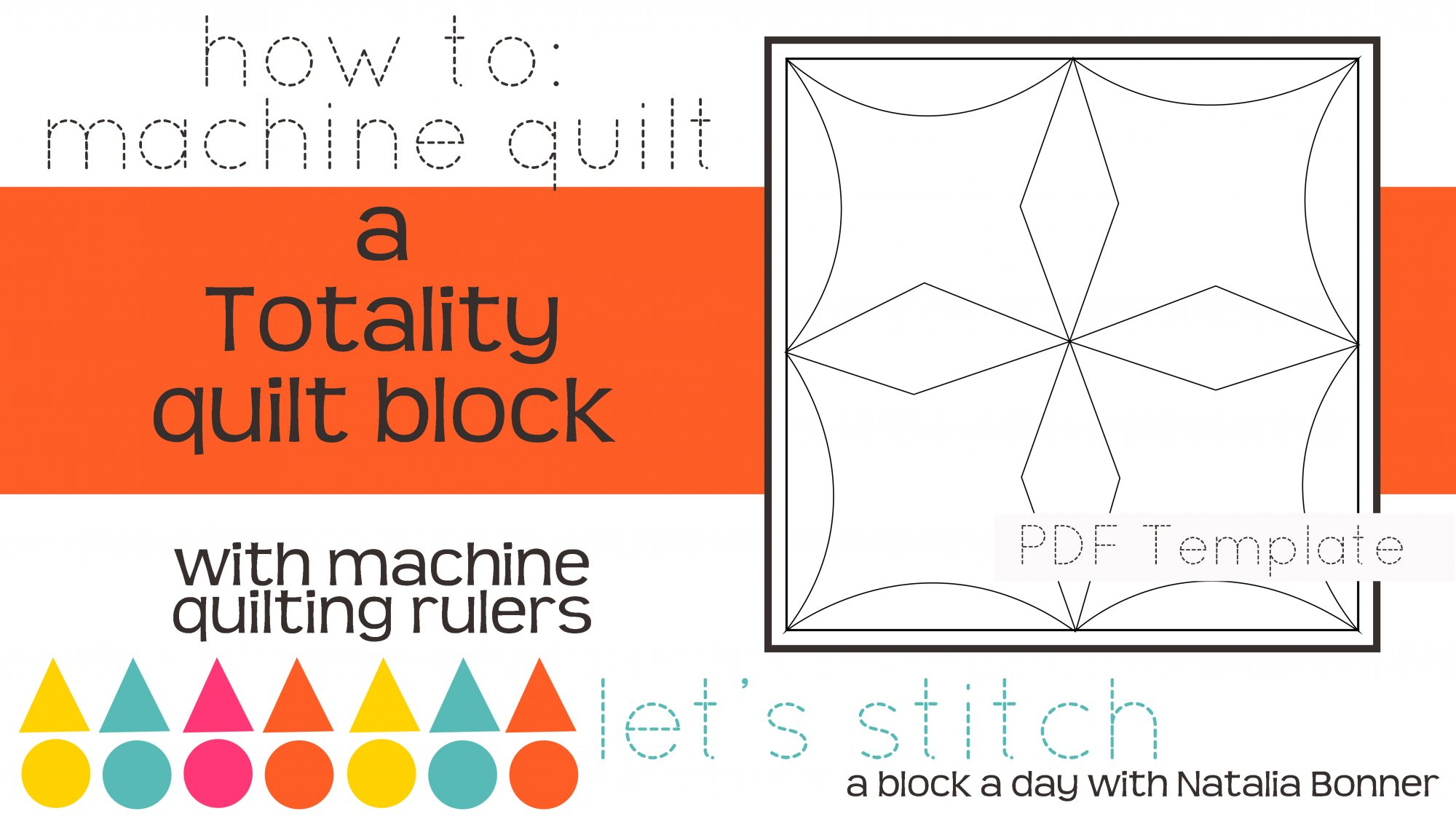 Let's Stitch - A Block a Day With Natalia Bonner - PDF - Totality