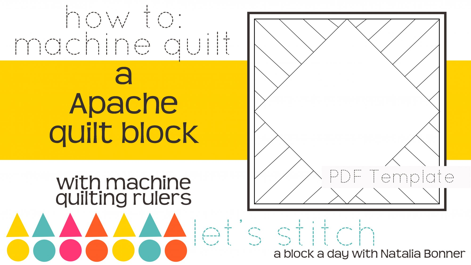 Let's Stitch - A Block a Day With Natalia Bonner - PDF - Apache