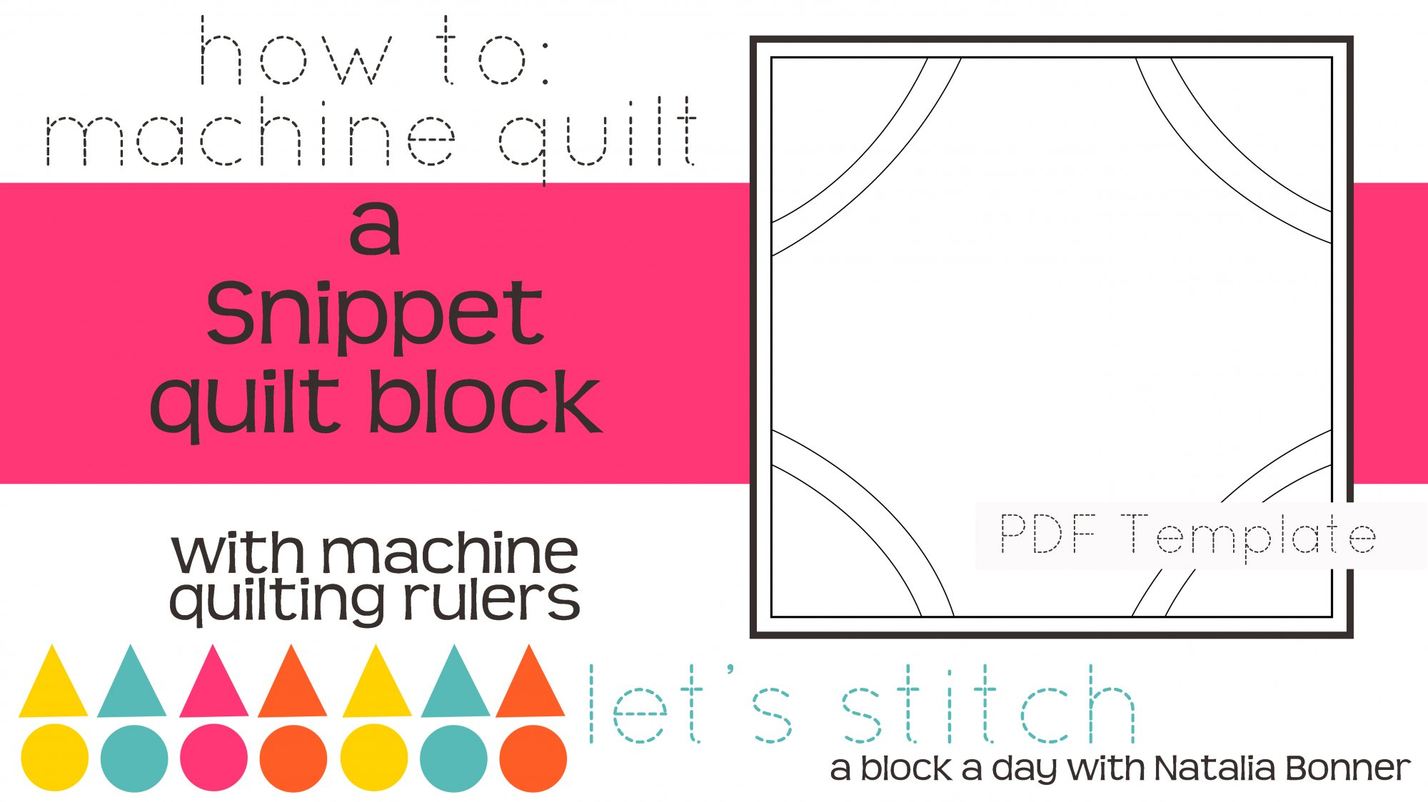 Let's Stitch - A Block a Day With Natalia Bonner - PDF - Snippet