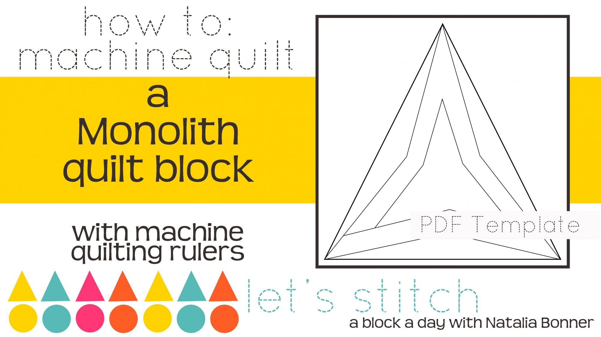 Let's Stitch - A Block a Day With Natalia Bonner - PDF - Monolith