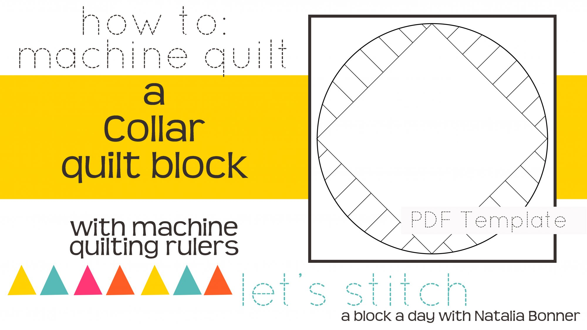 Let's Stitch - A Block a Day With Natalia Bonner - PDF - Collar