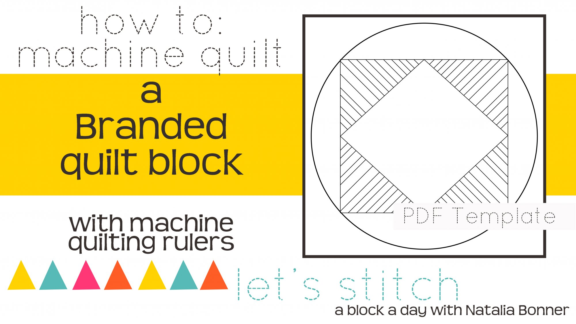 Let's Stitch - A Block a Day With Natalia Bonner - PDF - Branded