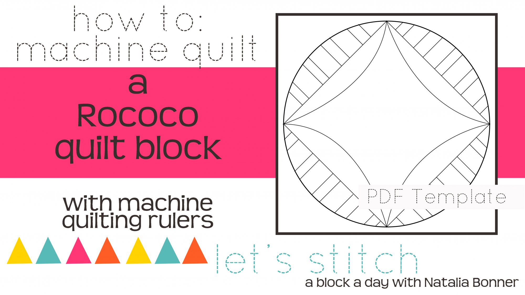 Let's Stitch - A Block a Day With Natalia Bonner - PDF - Rocco