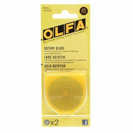 Olfa 45mm Rotary Blade - 2pk