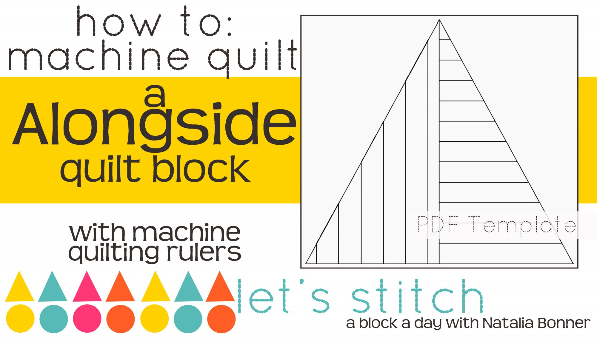Let's Stitch - A Block a Day With Natalia Bonner - PDF - Alongside